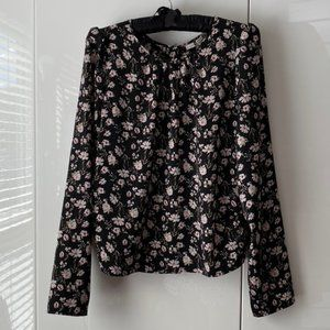 🌸3/$15🌸 Buttons Back Long Sleeved Flora Blouse M